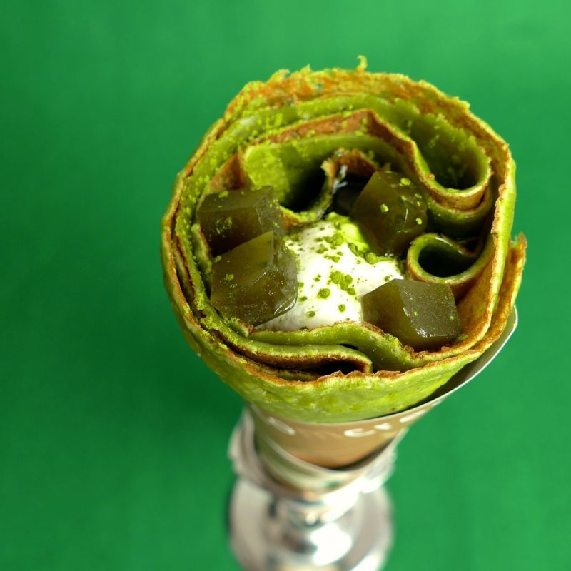 画像1: 抹茶ブームのニューヨーク出店に向けて作った最高傑作!葉隠抹茶がついにコムクレープ通販店に登場です! (1)